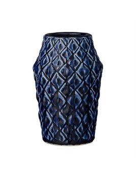 Bloomingville Navy Textured Vase