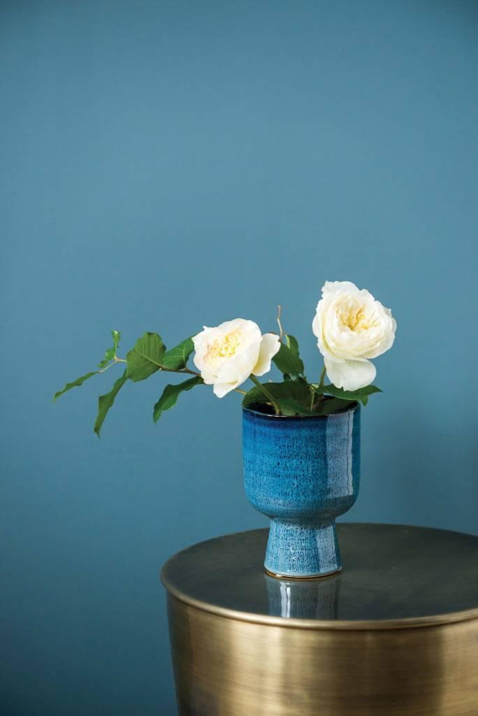 Bloomingville Vase Grès Bleu
