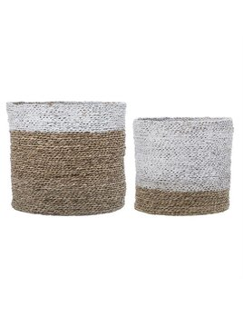 Bloomingville White Seagrass Basket - Size Choices