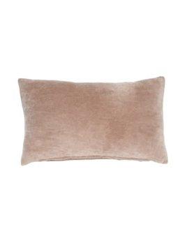 Indaba Taupe Velvet Pillow