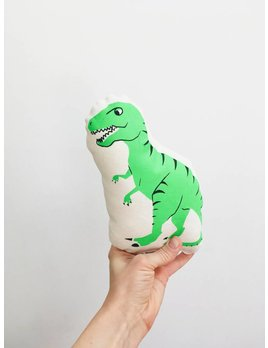 Sun and Stars Green Dinosaur Pillow