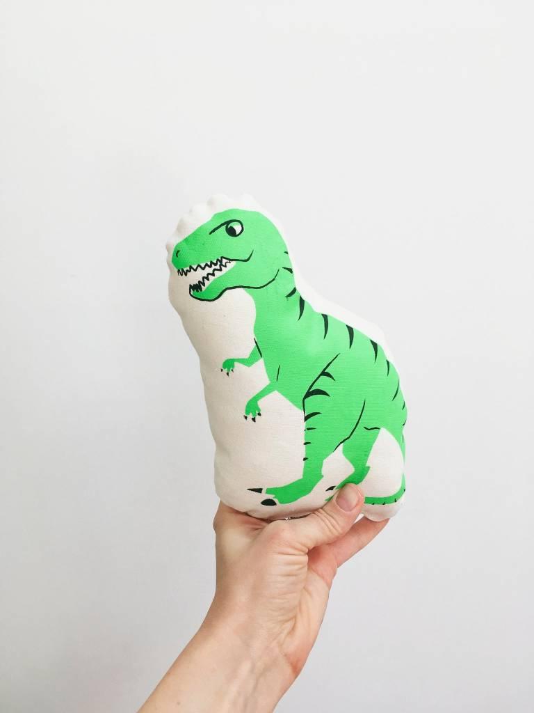 Sun and Stars Green Dinosaur Pillow