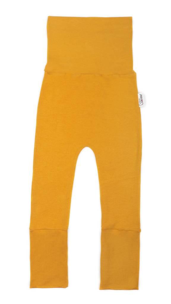 Coton Vanille Pantalons Évolutifs Moutarde