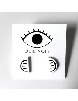 Oeil Noir Half Circle Earrings