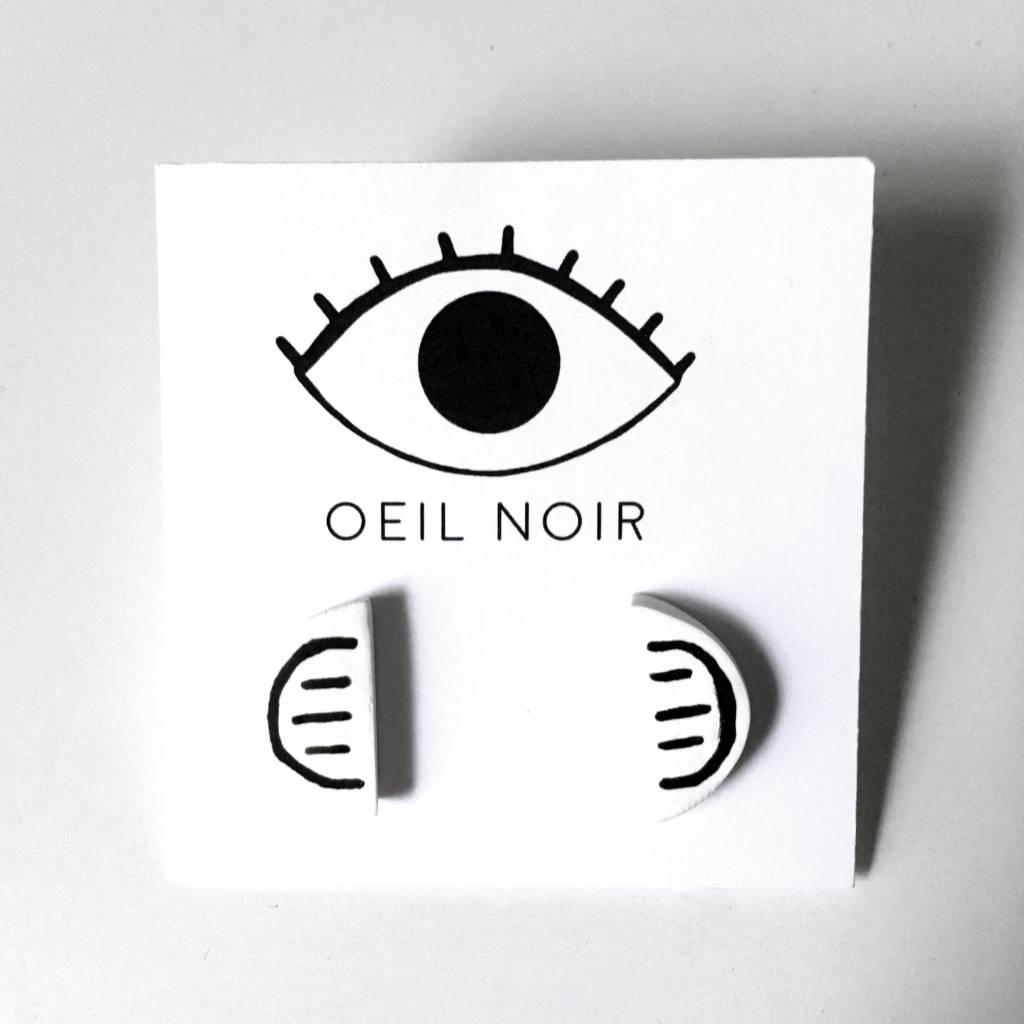 Oeil Noir Half Circle Earrings