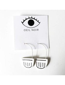Oeil Noir Boucles D'Oreilles Demi-Lune Mystic