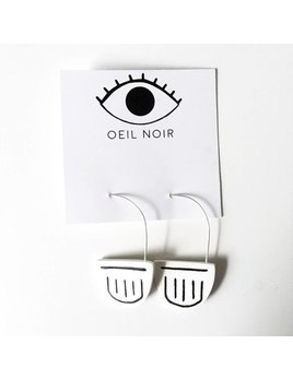 Oeil Noir Mystic Half-Moon Earrings