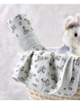 Lil Llama Lama Cotton Swaddle Blanket