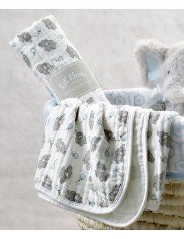 Lil Llama Couverture Mousseline Coton Éléphants