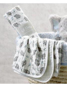 Lil Llama Elephants Cotton Swaddle Blanket