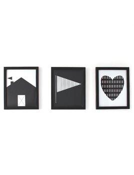 Gautier Studio Set of 3 Monochrome Frames