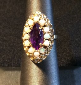 14kt Opal Amethsyt Ring