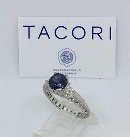 Tacori Platinum Sapphire & Diamond Ring