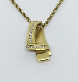 14kt Diamond Pendant / Slide