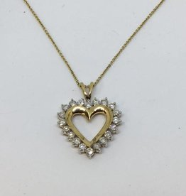 14Kt 2.0tcw Diamond Heart