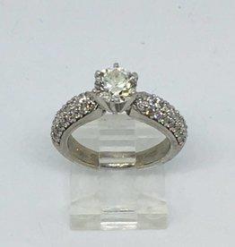 C 14Kt 1.11ct SI1 I Round Diamond Engagement RIng