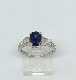 18Kt 2.04ct Sapphire .30tdw Ring