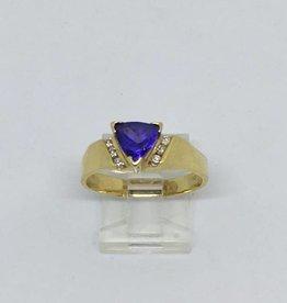 14Kt Tanzanite & Diamond RIng