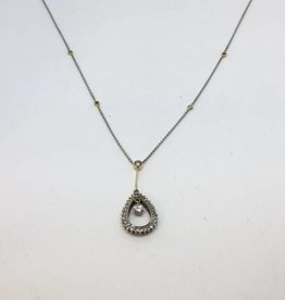 14Kt Diamond Tear Drop Necklace
