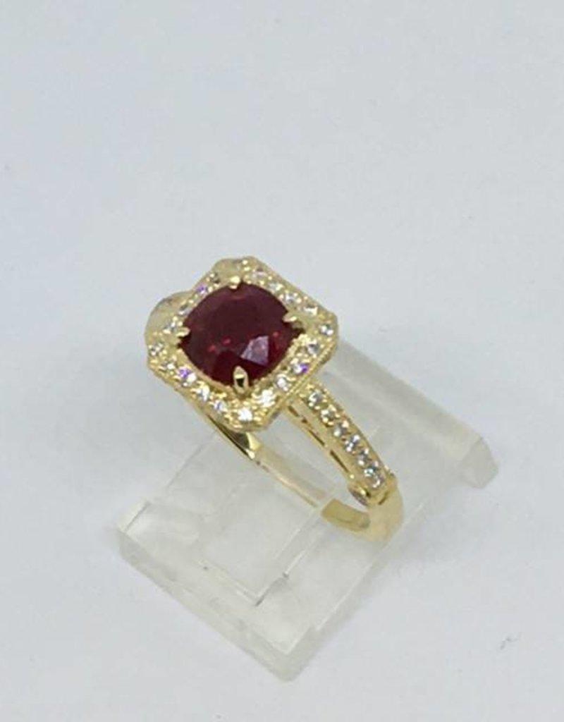 18Kt Ruby & Diamond Ring