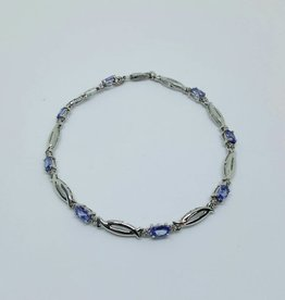 14kt Tanzanite & Diamond Bracelet