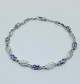 10kt Tanzanite & Diamond Bracelet