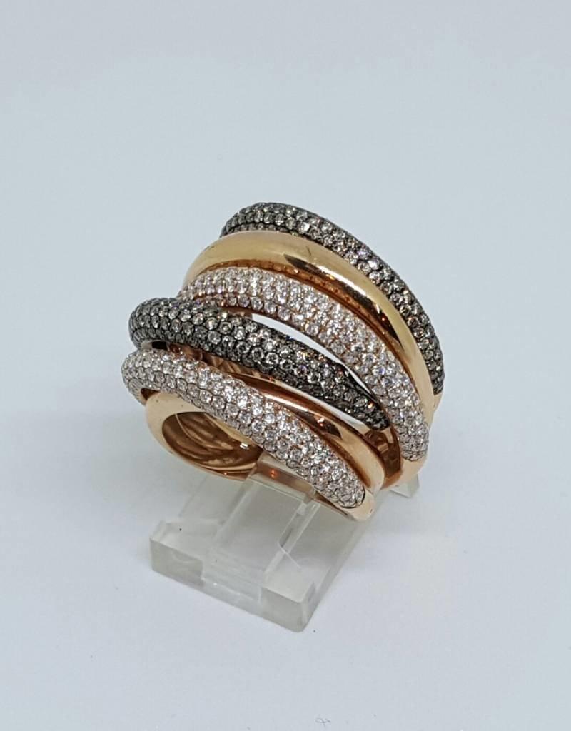 14kt Rose Gold 3.33tw SZ7 Diamond Fashion Ring