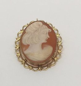 Gold Filled Shell Cameo