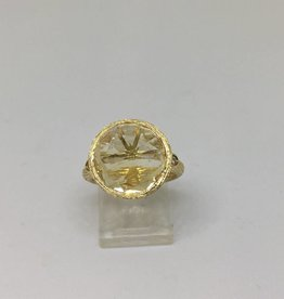 14kt Citrine & Diamond Ring