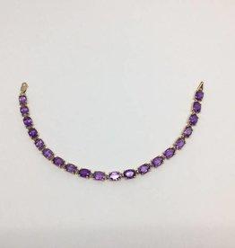 14kt Amethyst Bracelet