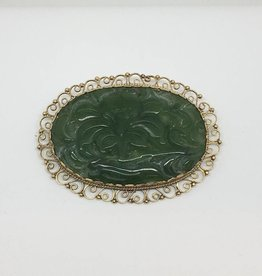14kt Jade Pin / Pendant