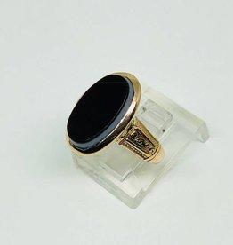 10kt Rose Gold Onyx Ring