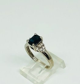 14kt Sapphire and Diamond Ring