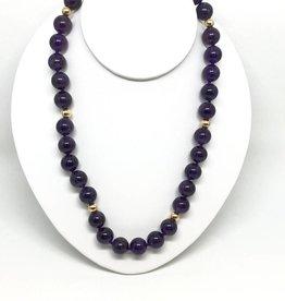 14kt Amethyst Bead Necklace