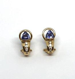 14kt Levian Tanzanite and Diamond Earrings