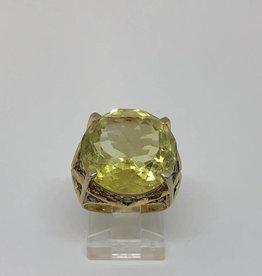 C 18kt Citrine & Diamond Ring