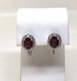 14kt Garnet & Diamond Earrings