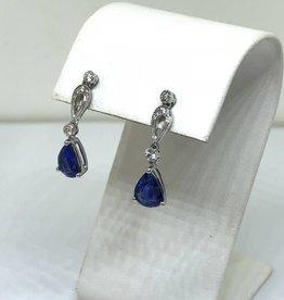 14kt 2ct Sapphire & Diamond Earrings