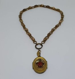 Pinchbeck Coral Necklace Locket