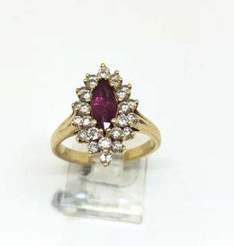 14kt Ruby Diamond Ring