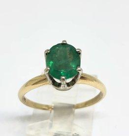 14Kt Emerald Solitare