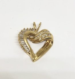 14kt Diamond Heart Pendant