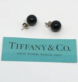 Tiffany & Co. .925 Onyx Ball Earrings