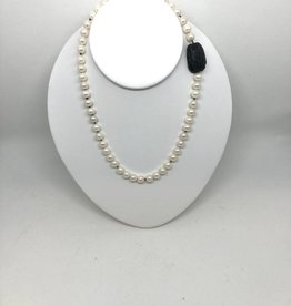 7mm Pearls with Scarab Invisible Clasp