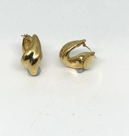 14kt Twisted Hoop Earrings