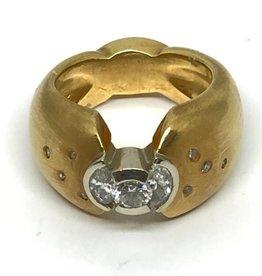 C 18kt Diamond Custom Ring with Ruby