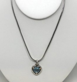 John Hardy Blue Topaz Heart Shaped Necklace