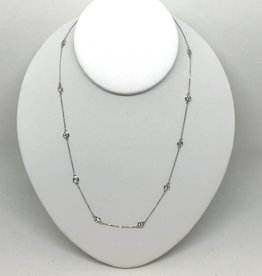 14k 1ctw Diamond Station Necklace