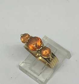 C 18kt Spessartite Orange Garnet Ring