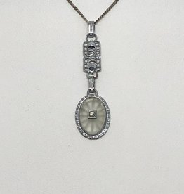 14kt Camphor Glass Necklace